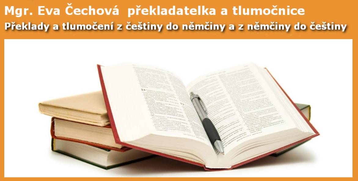 Mgr. Eva Čechová – Překlady němčiny