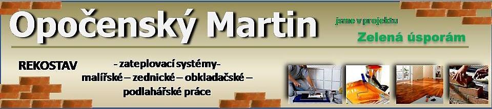 Stavební firma – Martin Opočenský