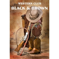Western club Black & Brown
