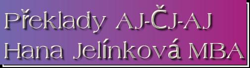 Mgr. Hana Jelínková, MBA – překlady a tlumočení