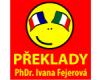 Překlady italština, francouzština – PhDr. Ivana Fejerová