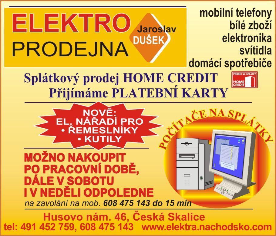 Jaroslav Dušek – elektroslužby