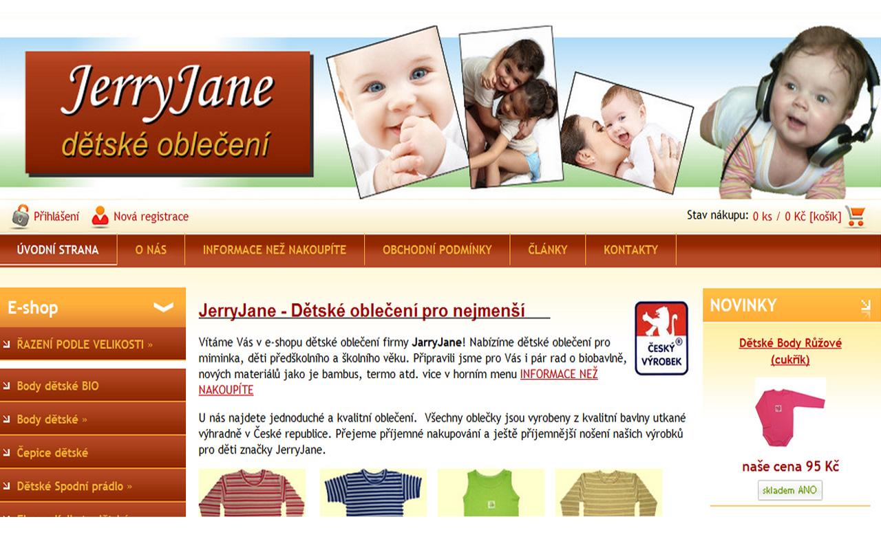 JerryJane - dětské oblečení