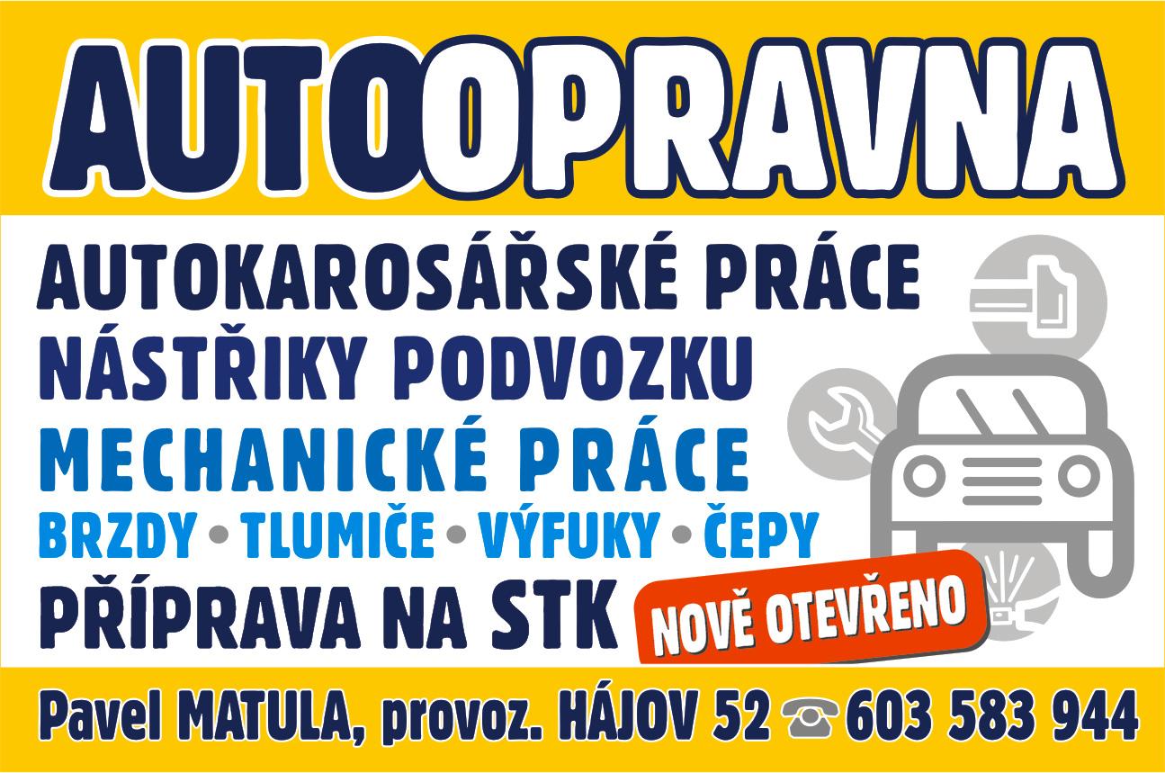 AUTOOPRAVNA MATULA – Opravy osobních a dodávkových automobilů